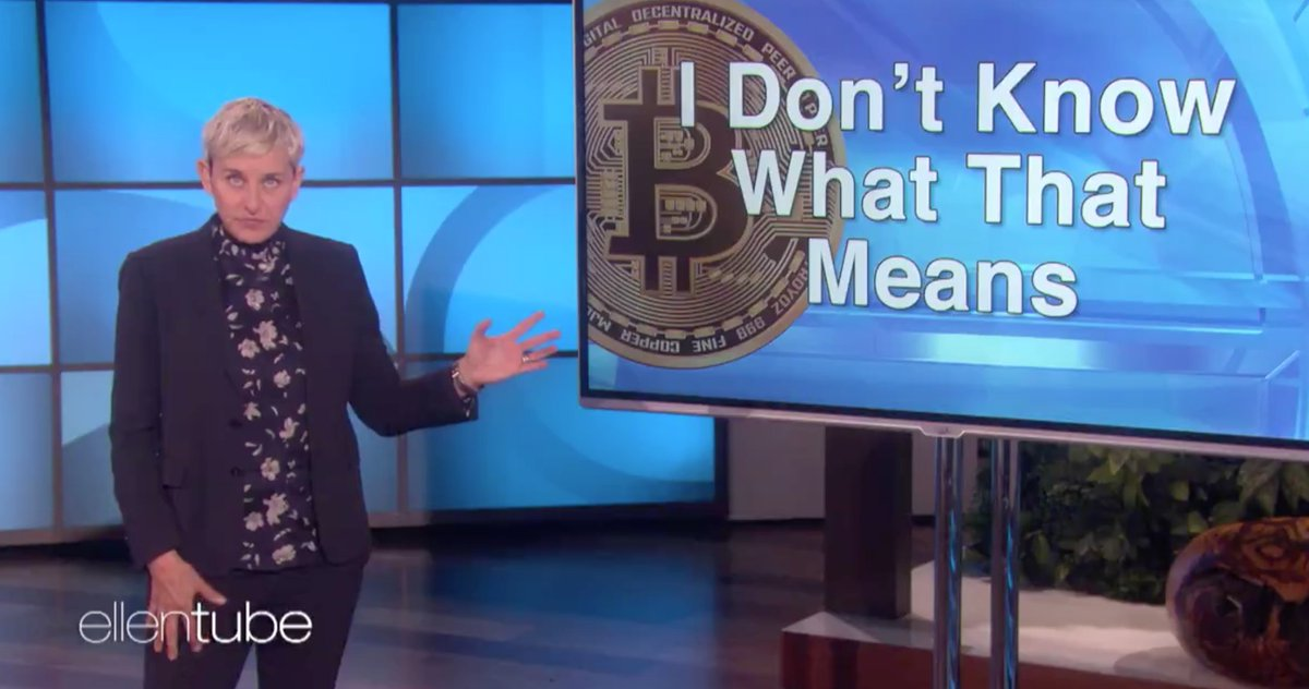 Ellen DeGeneres on Bitcoin: It's 'Either...