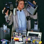 Image for the Tweet beginning: 1983: Before the smart phone.