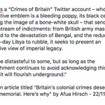 """.@afuahirsch Britain will never face its colonial past so long as its foreign policy of today is rooted in that legacy. Nor should anyone seek the """"establishment"""" as you put it to acknowledge its crimes - as if they don't know what they have done and are doing."""