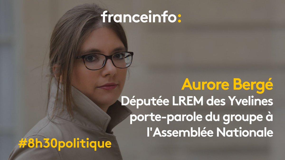Demain matin Aurore Bergé, Députée LREM des Yvelines et porte-parole du groupe à l'Assemblée Nationale, sera l'invitée du #8h30politique sur #franceinfo 📺 📻