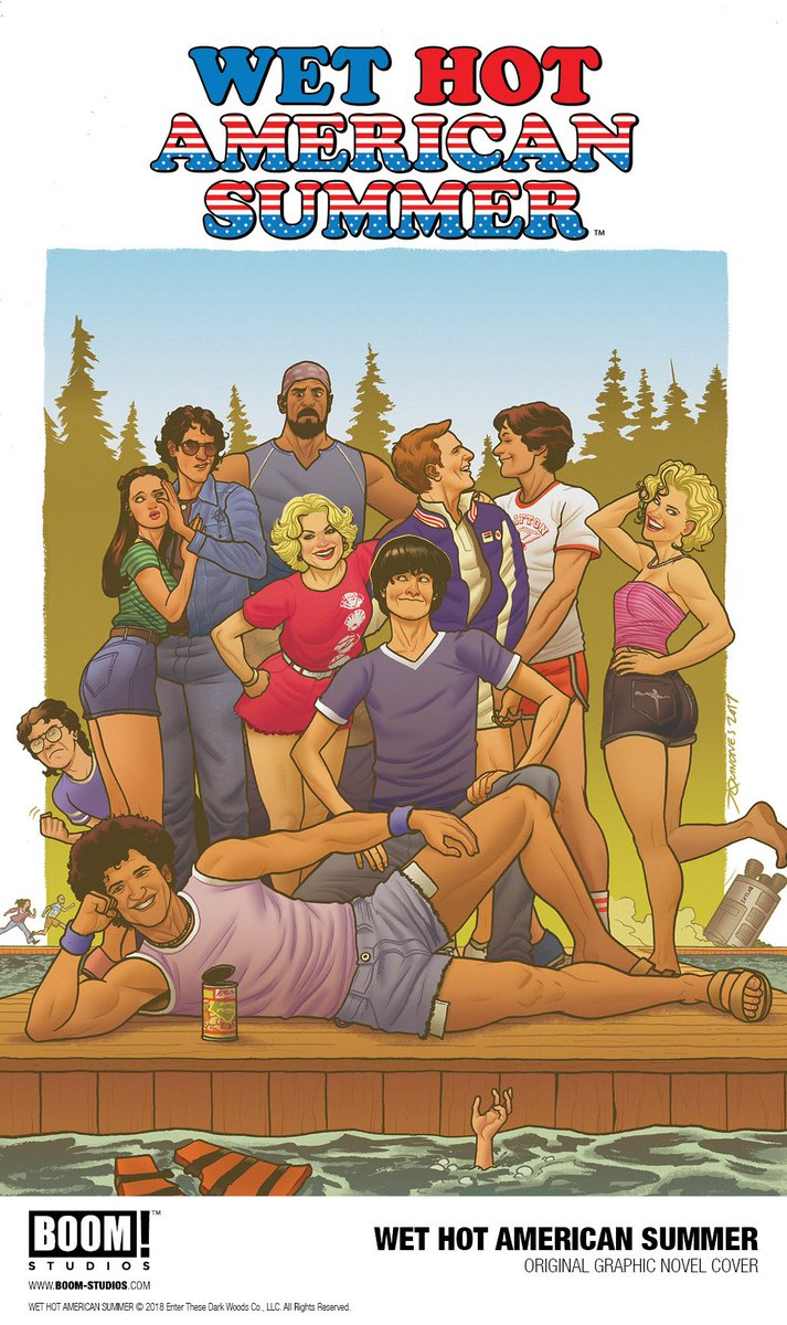 Very excited to have @drhastings and @ParagonRaptors team up for the WET HOT AMERICAN SUMMER OGN this November! @THR has the exclusive: bit.ly/WHASTHR