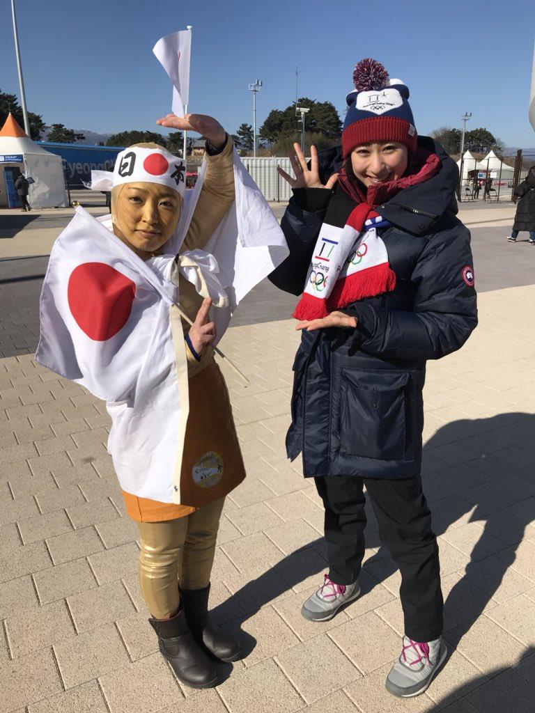 浅田舞さんにも取材していただきました!!!!!こんなヤバい奴に話しかけちゃダメです笑 金メダルマンは平昌の地でもう何も思い残すことはありません。