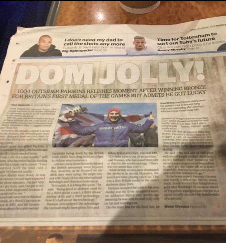 Very random use of me to big up our Bronze medal winning skeleton Dom in @MetroUK https://t.co/U08J3kO49m