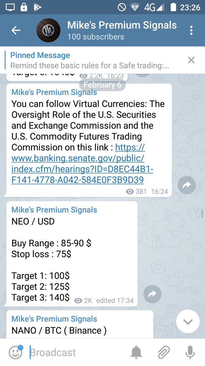 Cryptocurrency Exchange Act Free Cryptocurrency Signal