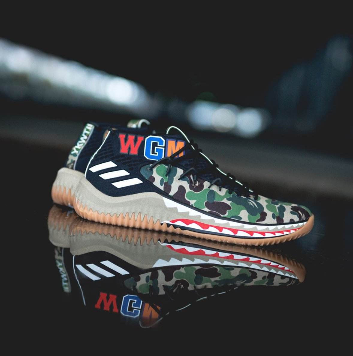145836a78b22f8 The BAPE x adidas Dame 4 will release tomorrow in green and black at adidas.ca  at 10AM EST and then at  OTHboutique at 11AM EST via  getfrenzyapp for  215.