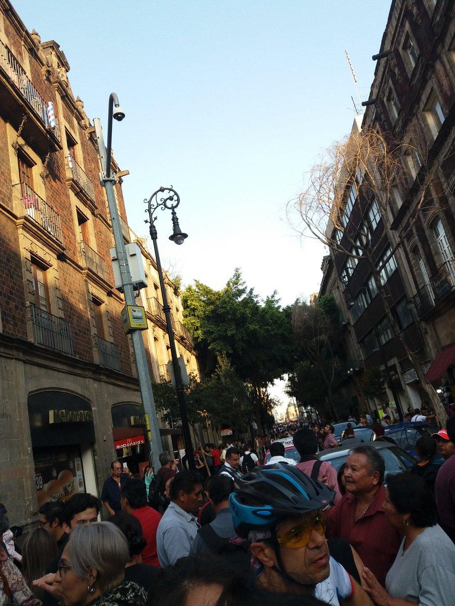 Las calles del centro antes del sismo y...