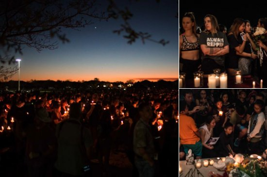 """Image result for Nunca va a ser lo mismo"""": los sobrevivientes del tiroteo de Parkland se reencuentran entre abrazos, flores y velas"""