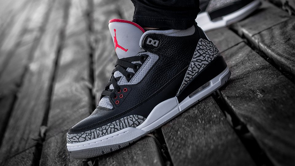 3b1487451a18a1 Air Jordan 3 OG  Black Cement  direct links via Foot Locker Mens http   bit.ly 2CpnZQo  GS http   bit.ly 2Ezkb59 PS http   bit.ly 2Ey45Zq ...