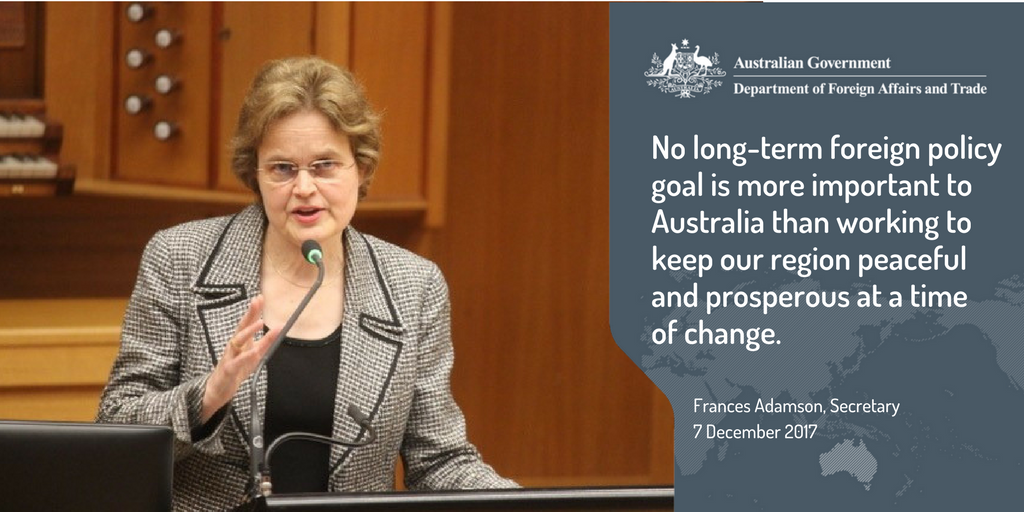 Secretary Adamson: The White Paper is emphatic on this point: our interests lie both in stability and in the character of the enduring peace we seek. #Opportunity #Security #Strength #FPWhitePaper @UTAS @AIIANational dfat.gov.au/news/speeches/…