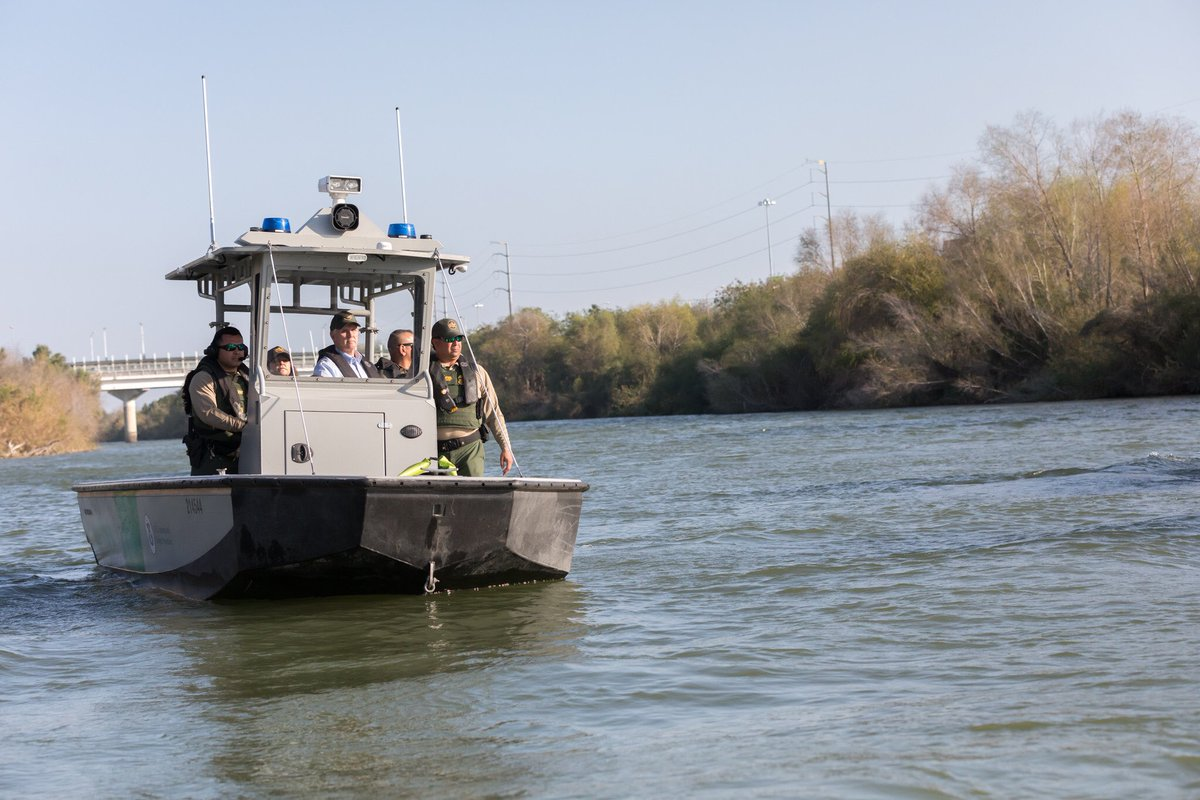 In Hidalgo today, saw how narrow the Rio Grande can be to cross. We need THE WALL & we need more personnel. Last year, there was a 73% increase in the number of assaults on border patrol agents guarding our southern border. We need more personnel to make sure our border is SAFE.