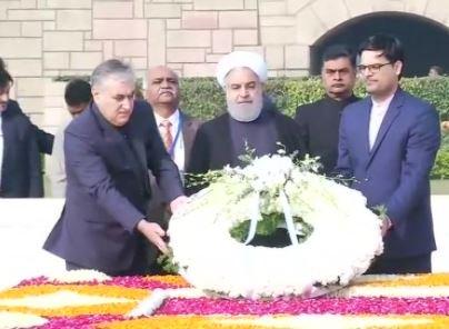 #Delhi: Iran President Hassan Rouhani pa...