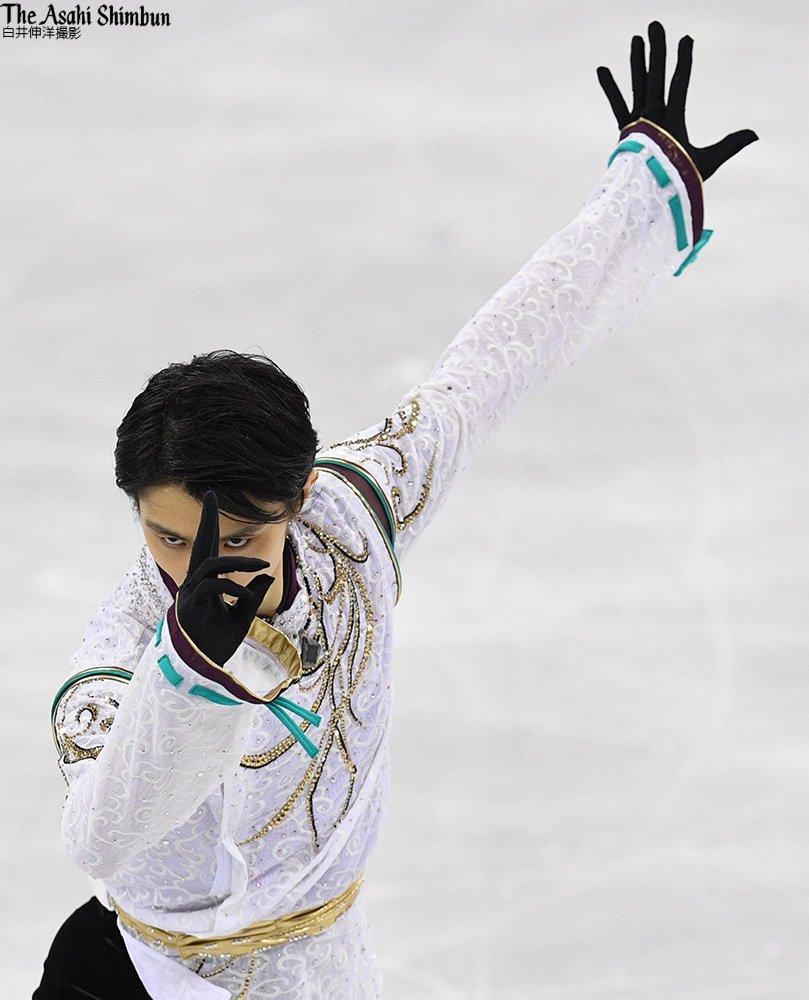 男子FPで #羽生結弦 選手の演技が始まります。直前の練習の写真です。(裕) #平昌五輪 #JPN #オリンピック #YuzuruHanyu