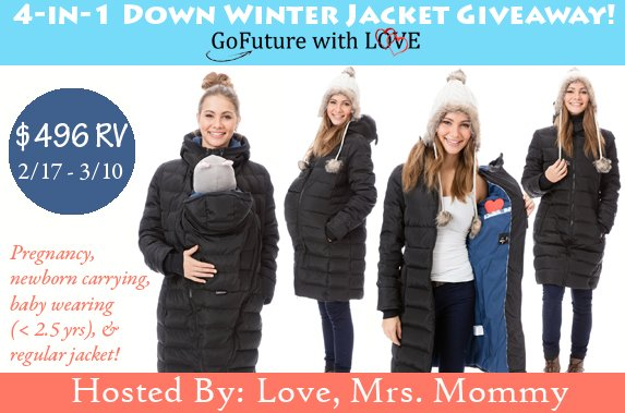aa37e0ec1c48c Enter to #WIN a $496 GoFuture With Love 4-in-1 Down #Winter #Jacket! # Pregnancy #Maternity #BabyWearing #BabyCarrying #Baby #Infant #Toddler  #Prize ...