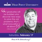 [CALENDAR] #WordsOfWisdom from Steve Wozniak. BONUS: the Woz will be on campus MONDAY! 🍎 #HPU365