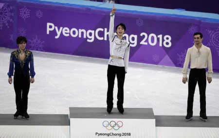 Watching the #Olympics on TV in LA.. Amazing! LAで #オリンピック 見てました。感動! Congratulations! #羽生結弦 選手 #金、#宇野昌磨 選手 #銀 おめでとうございます! #PyeongChang 2018 #Figureskating #Japan  #GoldMedal #YuzuruHanyu、 #SilverMedal #ShomaUno https://t.co/dMrUZLMbYY