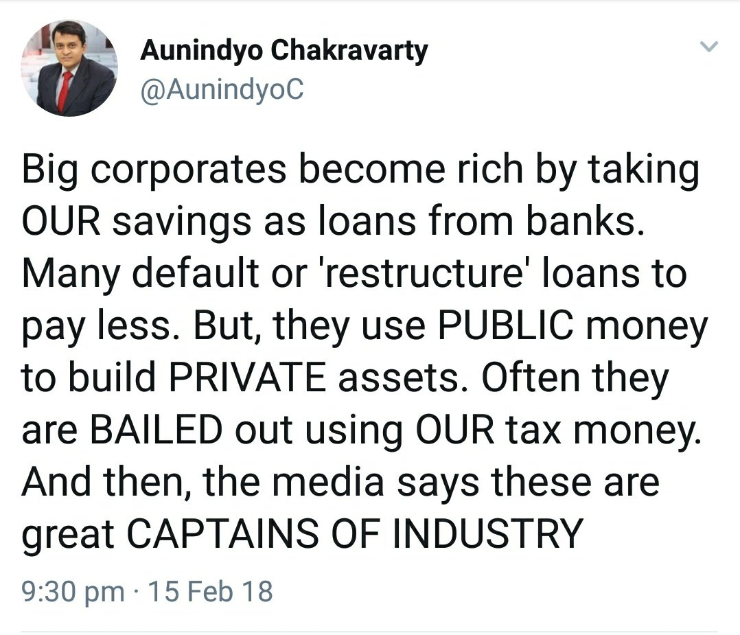Like NDTV 'restructured' its loans? http...