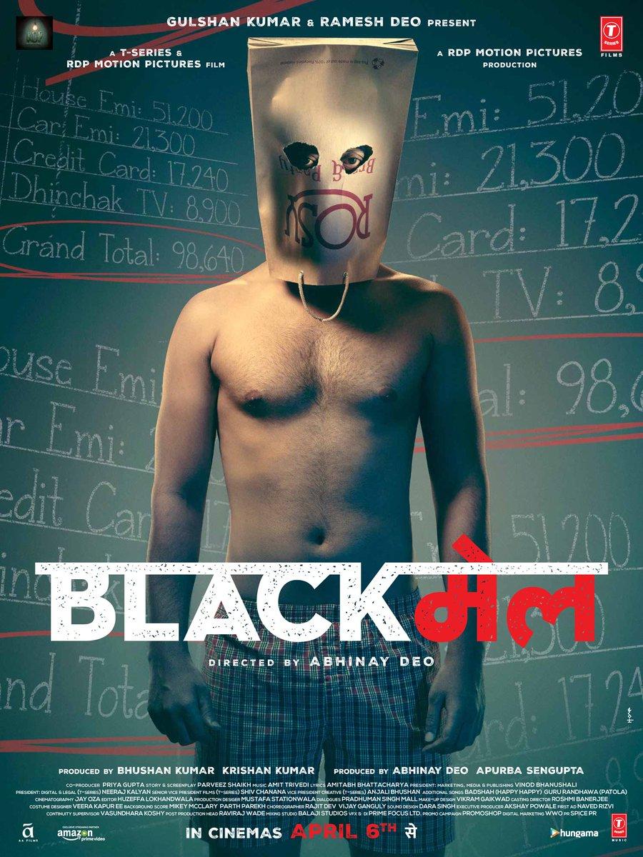 Aa raha hai #BLACKमेल trailer on 22nd Feb.. Get ready!!! @tseries #RDPMotionPictures #AbhinayDeo