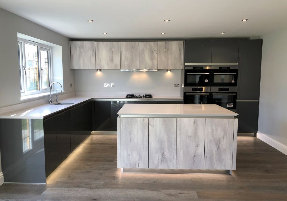 Shades Of Grey From Our Delta And Fresh Ranges, Create A #contemporary Look  In This Stunning New Build Home. #German #kitchen #design #intoto  #ShadesOfGrey ...