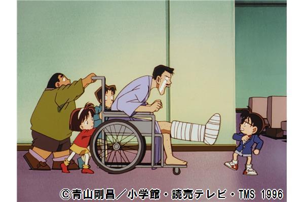 「(毛利小五郎は)ついこないだ右足を骨折したばかりだろう よくよく運のない男だな...