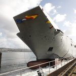 #ADayLikeThis in 2011 took place the launching of HMAS 'Canberra', built in #Ferrol Shipyard for the @Australian_Navy