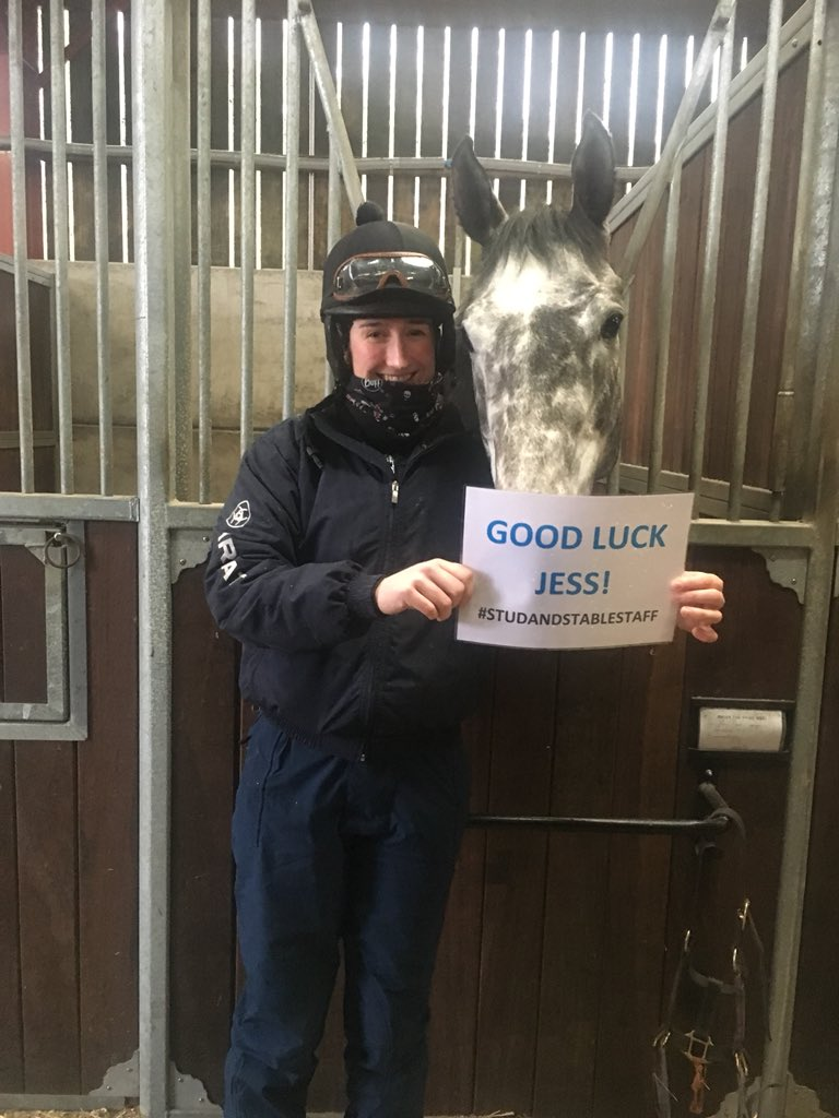 Good Luck @JessicaMcLernon from Brian The Snail and Fionn @BHAPressOffice @godolphin #StudandStableStaff Awards