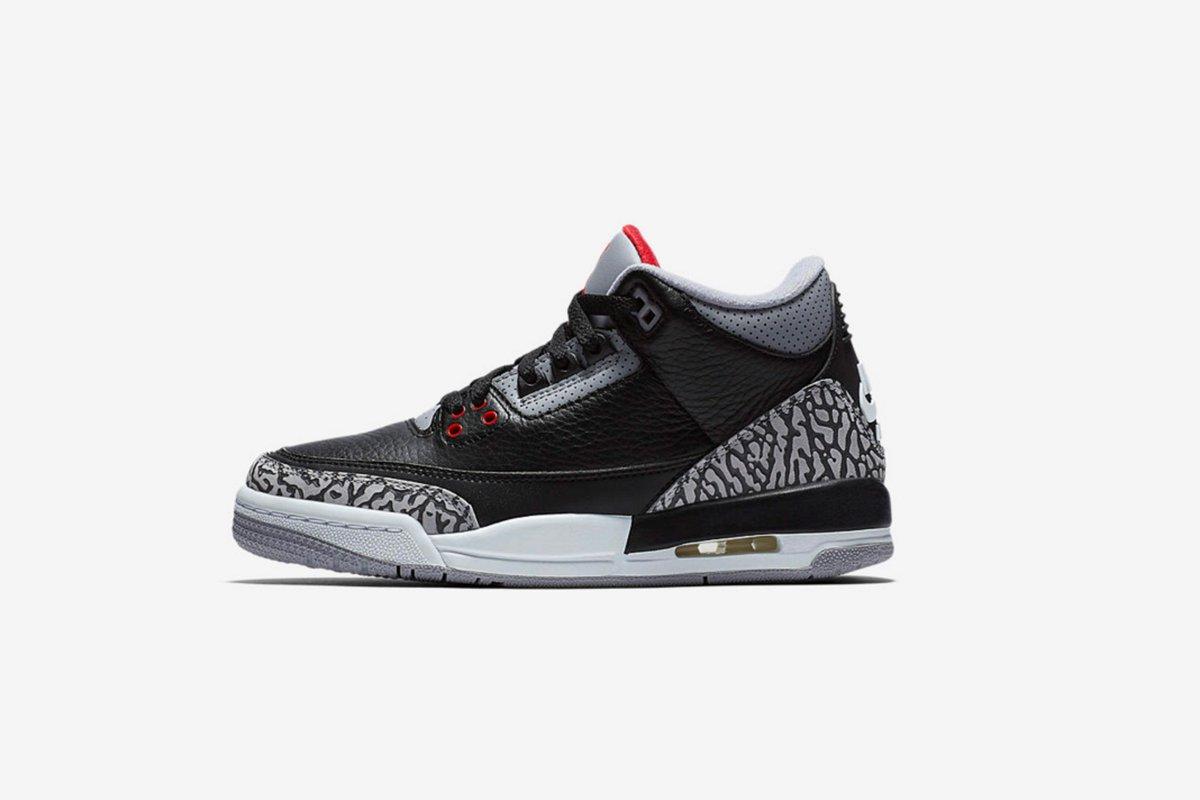 523fdd620e9 germany sneaker politics on twitter available now air jordan 3 retro og  kids sizes black cement