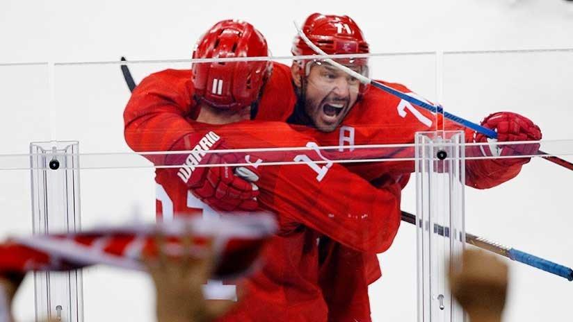 Equipo ruso de hockey vence a EE.UU. en...