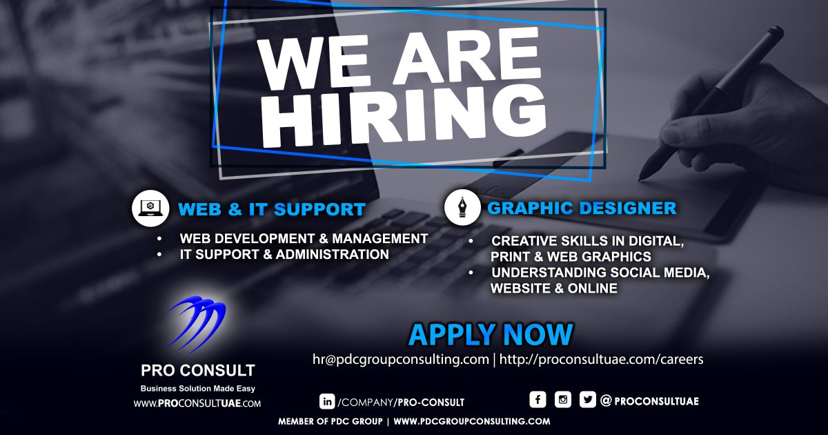 Vision Ideal Properties On Twitter Pro Consult Is Hiring Of Graphic Designer And It Web Support Apply At Hr Pdcgroupconsulting Com For More Info Visit Us At Https T Co Zqr8rqby7g Recruitment Vacancy Jobs It Websupport