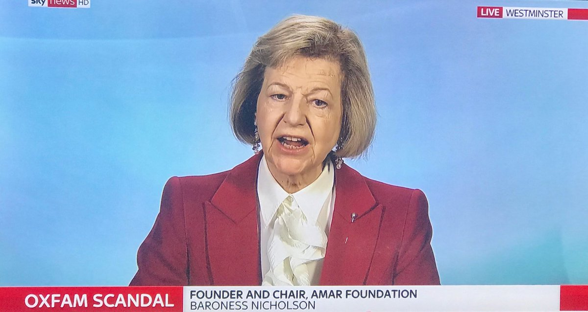 test Twitter Media - Our Chairman @Baroness_Nichol speaking on @SkyNews just now on the growing crisis surrounding @oxfamgb https://t.co/c4CSOrjFP4