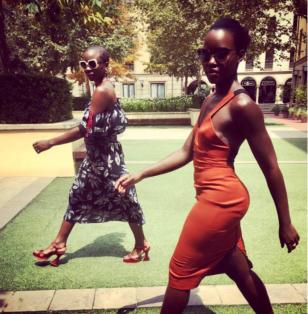 Here for the Movie-ment! @DanaiGurira #BlackPantherShowingOut #BlackPanther #WakandaForever @ImAngelaBassett 📸: @NickBarose and @vernonfrancois