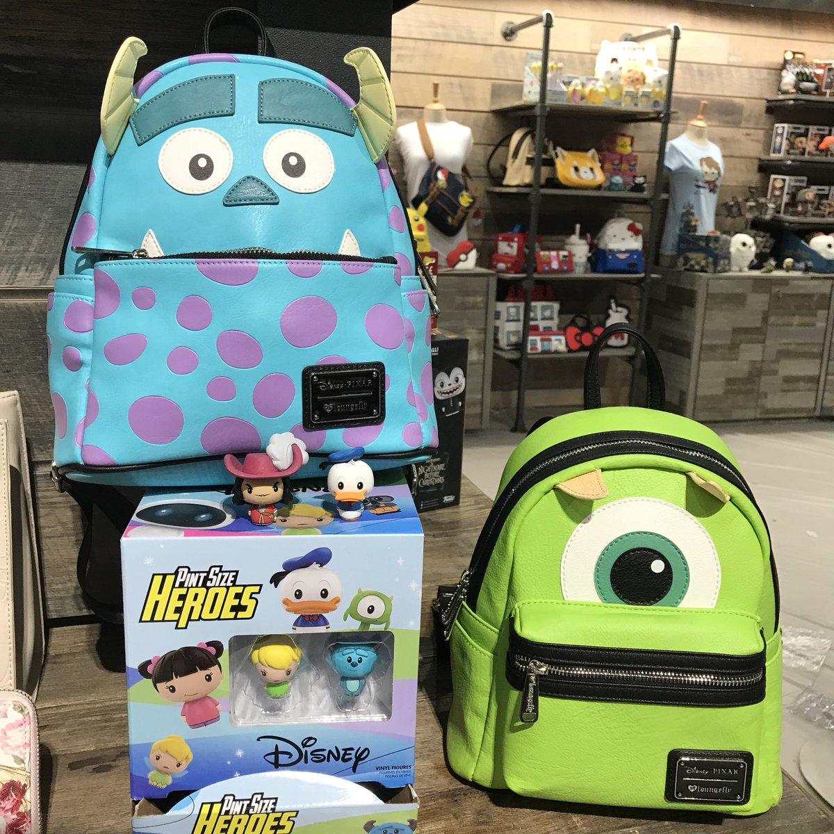 Loungefly On Twitter How Cute Are These New Monstersinc Mini Backpacks Loungeflytfny Toyfair2018 Funkotfny