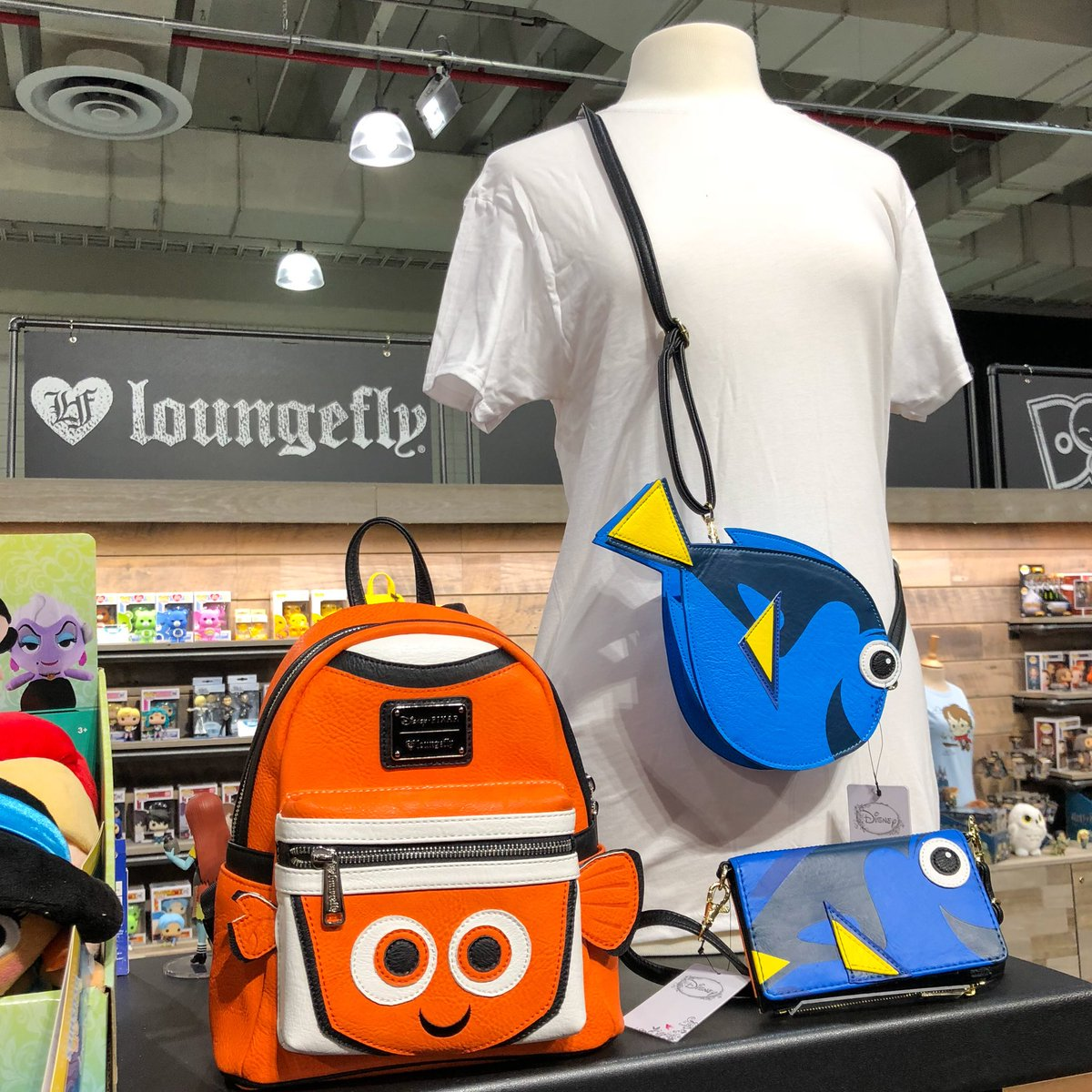 Love these @Loungefly Finding Nemo/Dory...