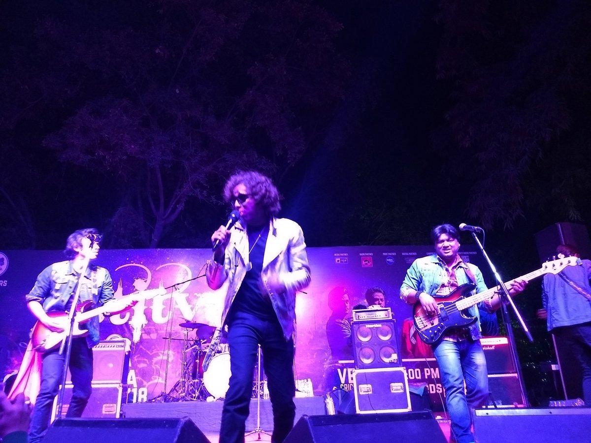 It's @AstitvaTheBand performing at @IIMC...