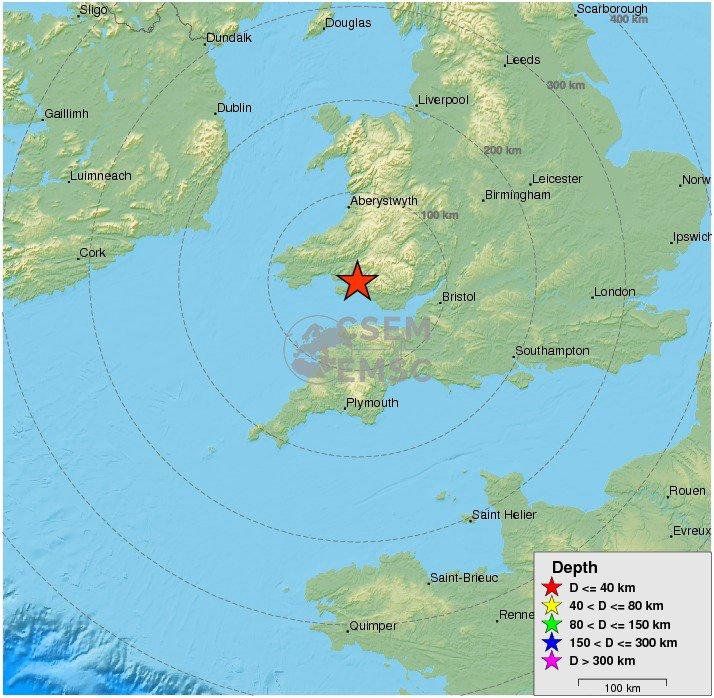 strong #earthquake shakes Wales-England Region, #U.k. 6 min ago. More info at: https://t.co/a9JSWufanO