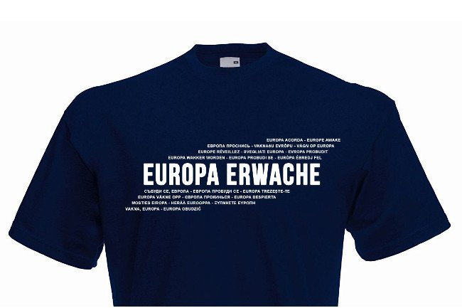 Europa erwache: Demoshirt ab jetzt erhäl...
