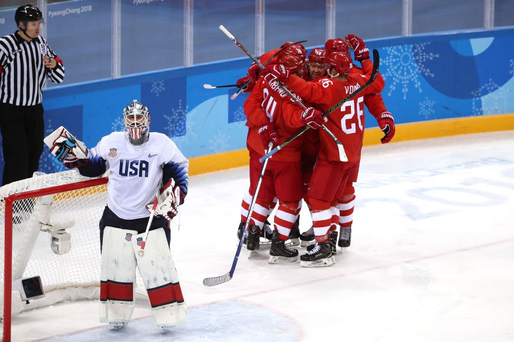 #USAvsOAR: The Olympic Athletes from Russia win against the United States in men&#39;s ice hockey prelims at #Pyeongchang2018 #Olympics<br>http://pic.twitter.com/XlmbD0qwBa