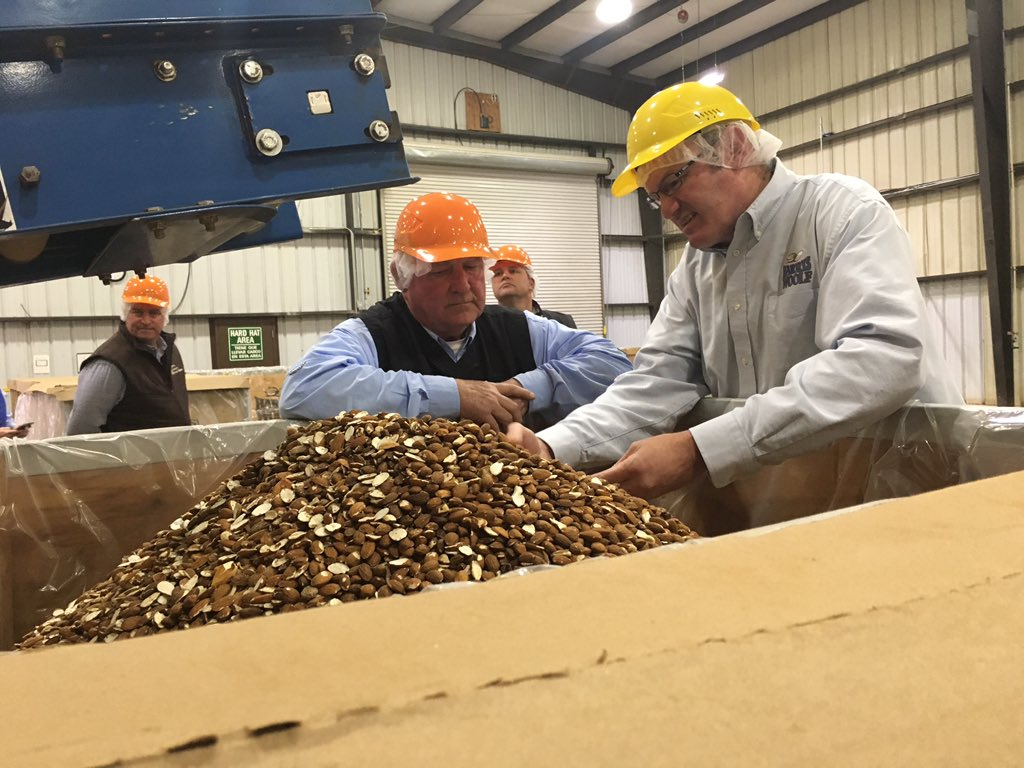 """Sonny Perdue on Twitter: """"Impressed again this week by California's massive  agricultural economy. In Coalinga, Harris Woolf Almonds is a grower, buyer,  and processor of almonds established in 1989. Harris Woolf seeks"""
