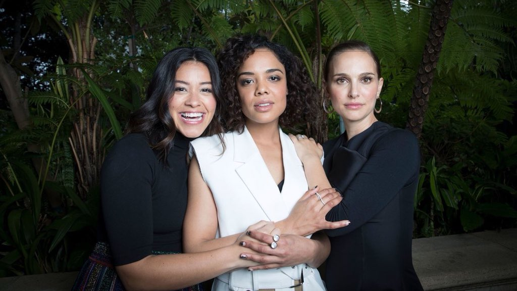 Natalie, Tessa Thompson and Gina Rodriguez photographed for Los Angeles Times, 2018
