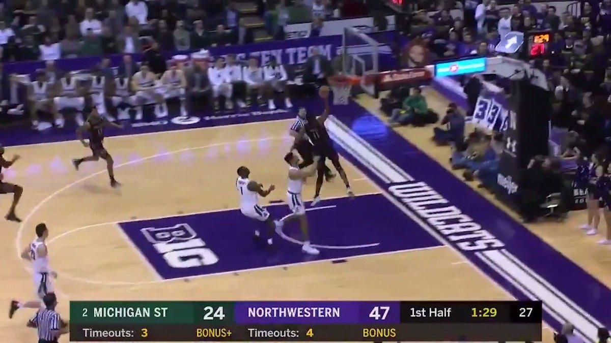 'Northwestern running Michigan State out...