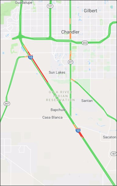 Traffic Map Phoenix Az.Arizona Dot On Twitter Expect Heavy Traffic On I 10 Westbound Into