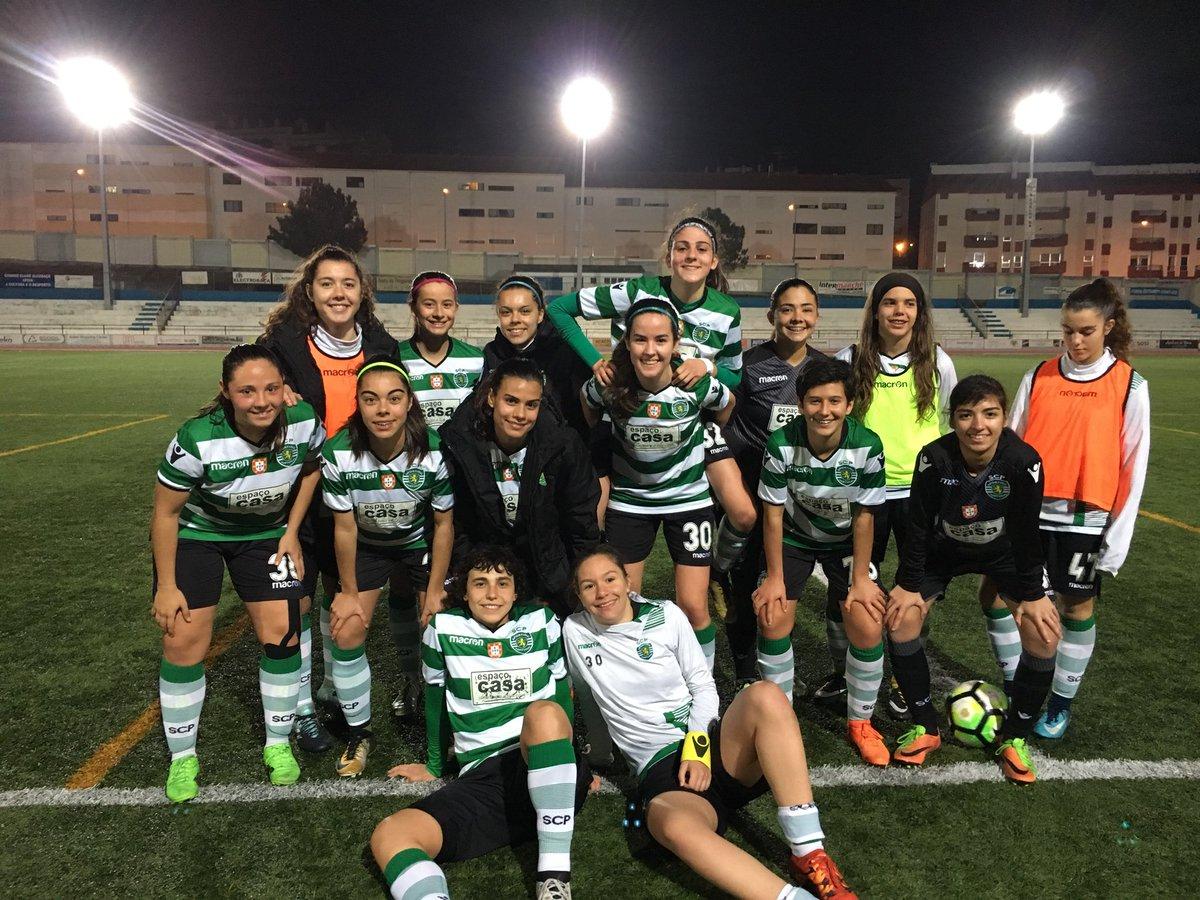 Vitória por 5-0 diante do Ginásio Clube de Alcobaça e mais 6 pontos que o 2.º classificado 🙌🏼🙏🏼💚  #UniãoDeAço #FutFemSCP
