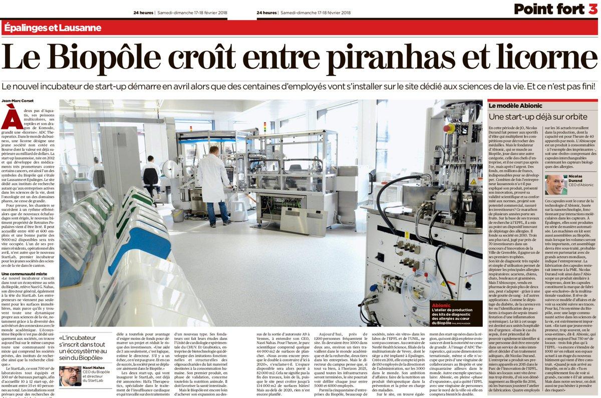 Great Article on W.A. DeVigier #Award Winner #Abionic.  Congrats to #NicolasDurand @info_abionic @abionic_fr #SwissStartup #Startups #Livescience