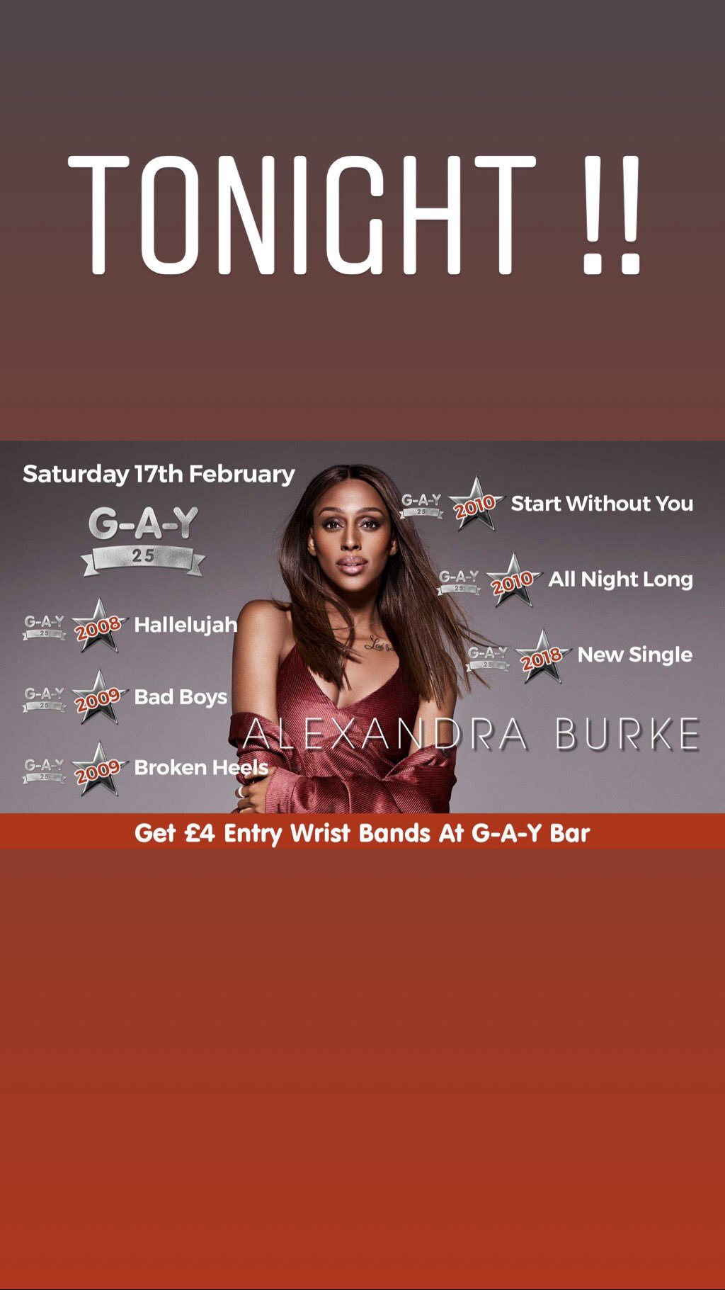 G.A.Y tonight ! I can't wait ! Who's coming x https://t.co/XSYJ0Oc3m2