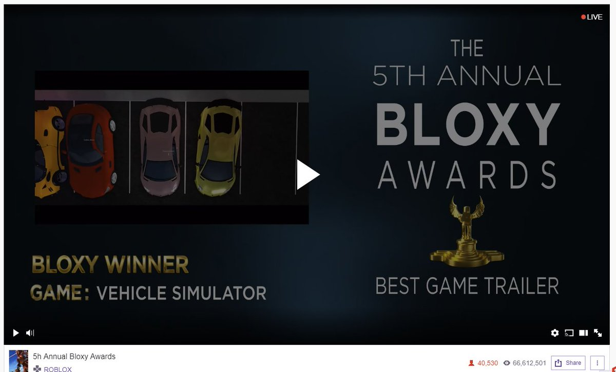 Wooooo! Best Trailer! Thanks everyone <3 #BloxyAwards  youtube.com/watch?v=r9RvPY…