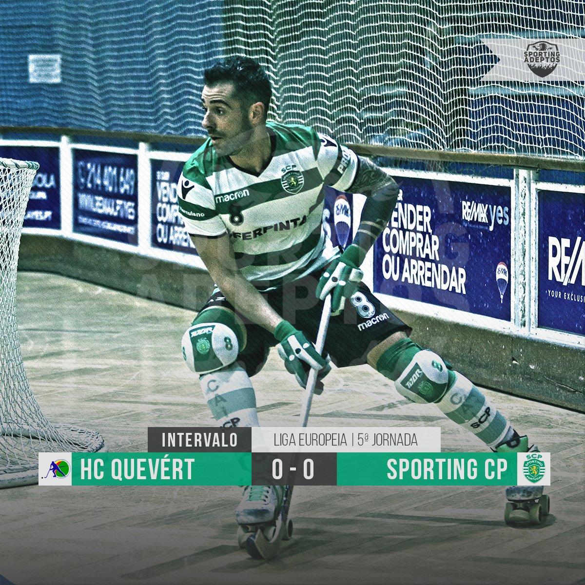 ⏱️ Intervalo | @Sporting_CP e HC Quévert chegam ao descanso empatados a zero. #HóqueiSCP #DiaDeSporting