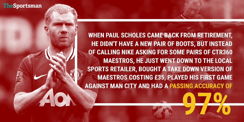 👢 Paul Scholes has just confirmed on BT...