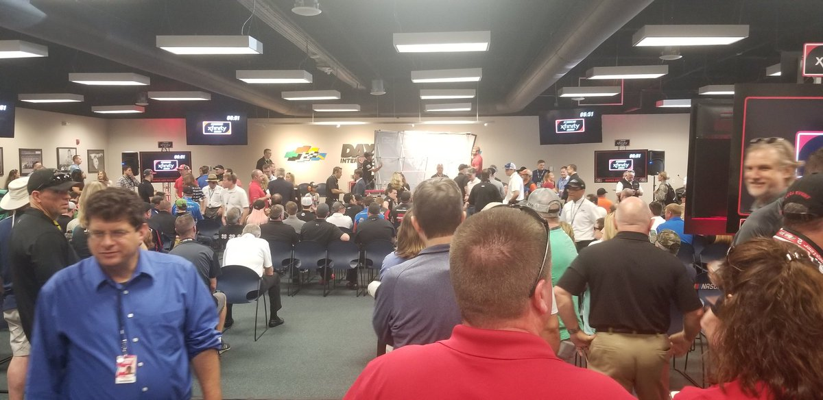 Just chillin' at the Driver meeting. No...