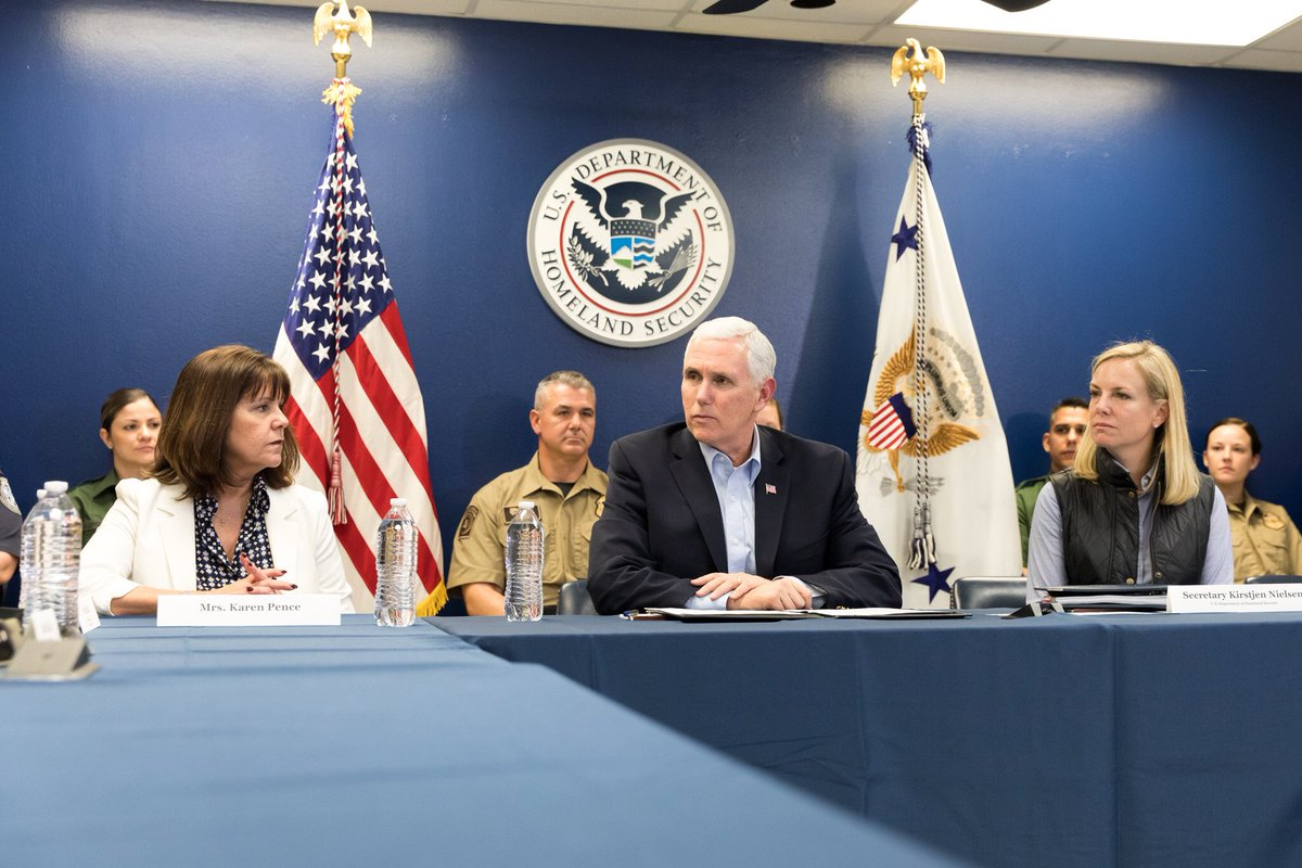 After detailed briefing along our southern border yesterday from @SecNielsen & @DHSgov on keeping our Nation safe, I'll be speaking in Dallas this morning on the importance of securing our border & @POTUS pro-worker TAX CUTS!