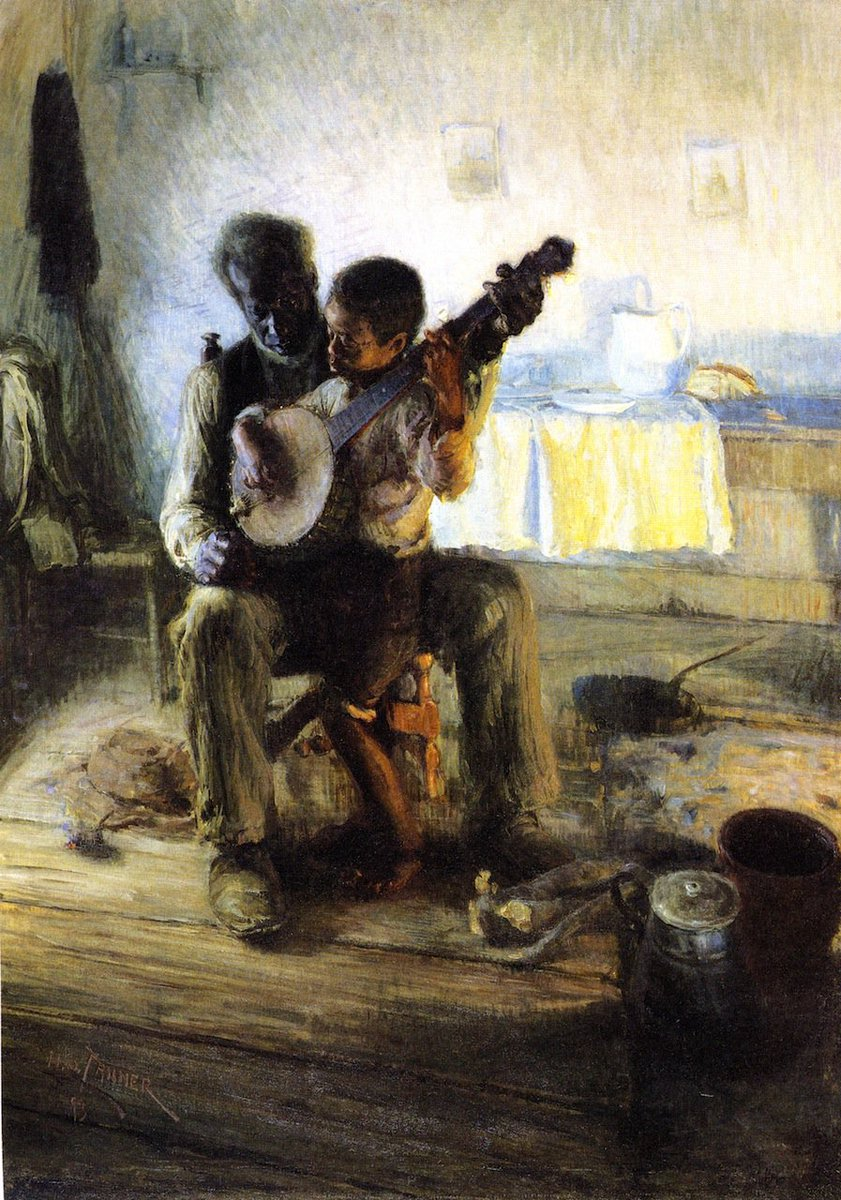 "Un Cuadro Al Día on Twitter: ""The Banjo Lesson. Henry Ossawa ..."