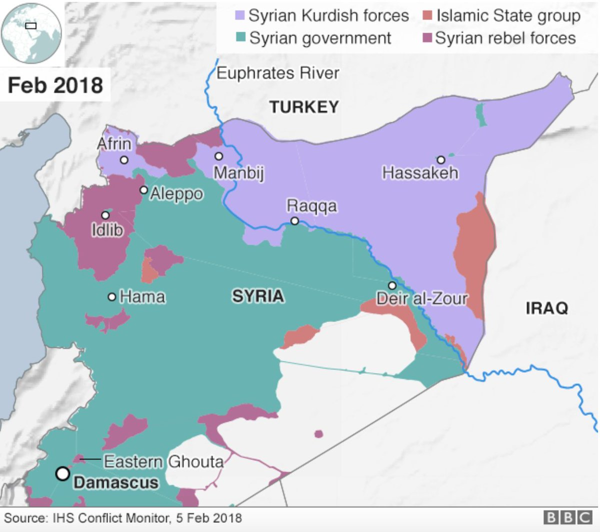 Joshua Landis on Twitter What percent of Syria does the US